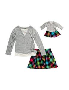 Dollie & Me 2-pc. Plaid Skirt Set - Girls 4-14