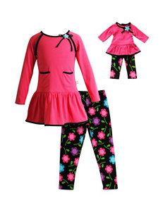 Dollie & Me 2-pc. Floral Top & Leggings Set - Girls 4-14