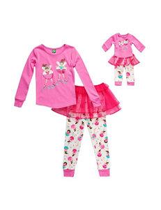 Dollie & Me 2-pc. Ballerina Tutu Pajamas - Girls 4-14