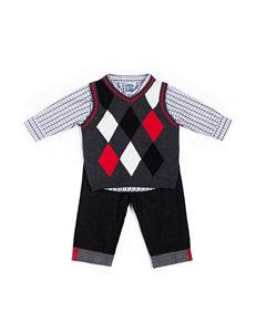 Boys Rock 3-pc. Argyle Sweater & Pants Set - Baby 12-24 Mos.