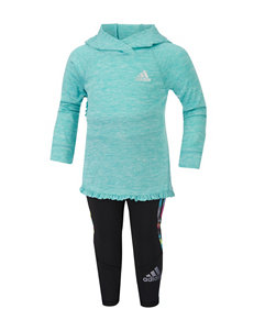 adidas® 2-pc. Turquoise Hoodie & Leggings Set - Baby 12-24 Mos.