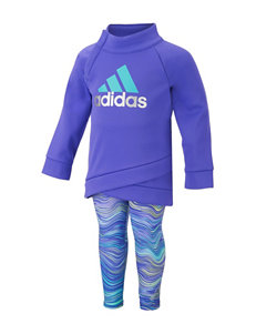 Adidas 2-pc. Purple Hoodie & Leggings Set - Baby 12-24 Mos.