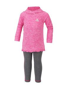 adidas 2-pc. Pink Hoodie & Leggings Set - Baby 12-24 Mos.