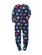 Carter's® Football Print Footed Fleece Pajama - Boys 10-12
