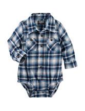 OshKosh Bgosh® Blue Plaid Print Bodysuit - Baby 3-24 Mos.