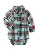 OshKosh Bgosh® Plaid Print Flannel Bodysuit - Baby 3-24 Mos.