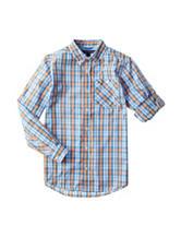 Tommy Hilfiger Plaid Print Woven Shirt - Boys 8-20
