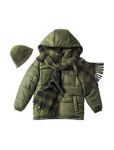 I Apparel Jacket with Hat & Scarf - Toddler & Boys 4-7