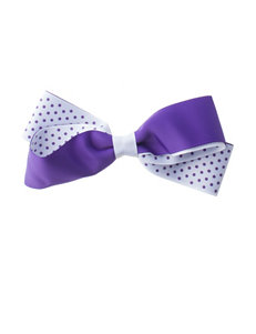 Riviera Inside Out Dot Ribbon Bow Clip