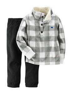 Carter's® 2-pc. Buffalo Check Print Jacket & Pants Set - Baby 12-24 Mos.