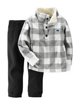 Carter's® 2-pc. Buffalo Check Print Jacket & Pants Set - Baby 12-24 Mos.