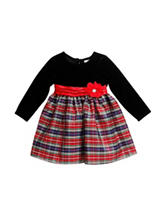 Youngland Plaid Print Dress - Baby 12-24 Mos.