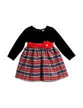Youngland Plaid Print Dress - Baby 12-24 Mos.