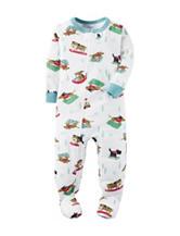Carter's® Sledding Dog Print Footed Fleece Pajamas - Toddler Boys