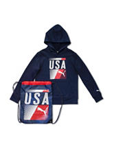Puma® 2-pc. U.S.A. Olympic Hoodie & Bag - Boys 8-20