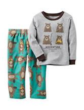 Carter's® 2-pc. Husky Bear Print Adventure Pajama Set - Bonus 8-20