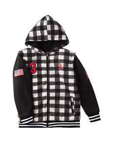 U.S. Polo Assn. Checkered Print Hoodie - Boys 8-20