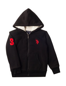 U.S. Polo Assn. Black Fleece Jacket - Boys 8-20