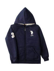U.S. Polo Assn. Navy Fleece Hoodie - Boys 8-20