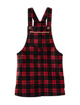 OshKosh Bgosh® Red & Black Plaid Skirtall - Girls 2t-5T
