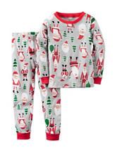 Carter's® 2-pc. Santa and Tree Print Pajama Set - Husky Boys 8-20