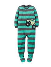 Carter's® Striped Print Footed Fleece Pajama - Boys 10-12