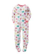 Carter's® Donut Print Footed Fleece Pajamas - Girls 4-8