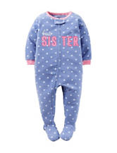 Carter's® Best Sister Footie Fleece Sleeper – Toddler Girls