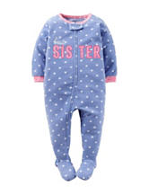 Carters® Best Sister Footed Fleece Pajama - Girls 10-14