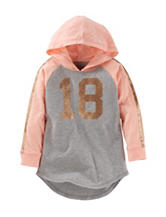 OshKosh B'gosh® 18 Glitter Hoodie Top - Toddler Girls