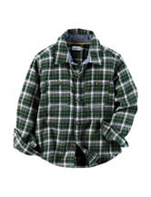 Carter's® Green Plaid Flannel Shirt - Boys 4-8