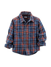 Carter's® Plaid Print Flannel Woven Shirt - Toddler Boys