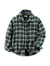 Carter's® Green Plaid Flannel Shirt - Toddler Boys