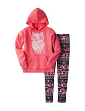 Star Ride 2-pc. Owl Hoodie & Aztec Leggings Set - Girls 7-16