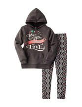 Star Ride 2-pc. Love Hoodie & Aztec Print Leggings Set - Girls 7-16