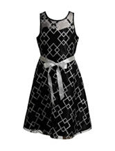 Emily West Illusion Metallic Dress - Girls 7-16