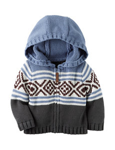 Carter's® Patterned Cardigan Zip Sweater - Baby 3-18 Mos.