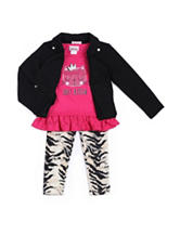 Little Lass 3-pc. Just Kitten Top & Leggings Set - Girls 4-6x