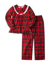 Komar 2-pc. Plaid Pajama Set - Girls 4-16
