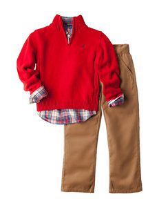 Nautica Red Sweater & Pants Set - Toddlers & Boys 4-7