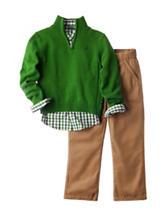 Nautica 3-pc. Green Sweater & Pants Set - Boys 4-7
