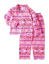 Komar 2-pc. Fair Isle Coat Pajama Set - Girls 4-16