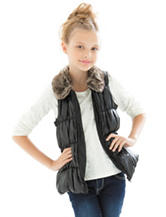 Self Esteem 2-pc. Faux Fur Collar Vest & Top Set - Girls 7-16