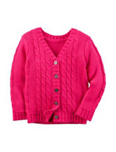 Carter's® Pink Cable Knit Sweater - Toddler Girls