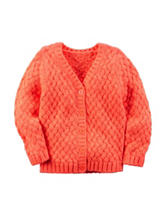 Carters® Orange Cable Knit Sweater - Girls 4-8