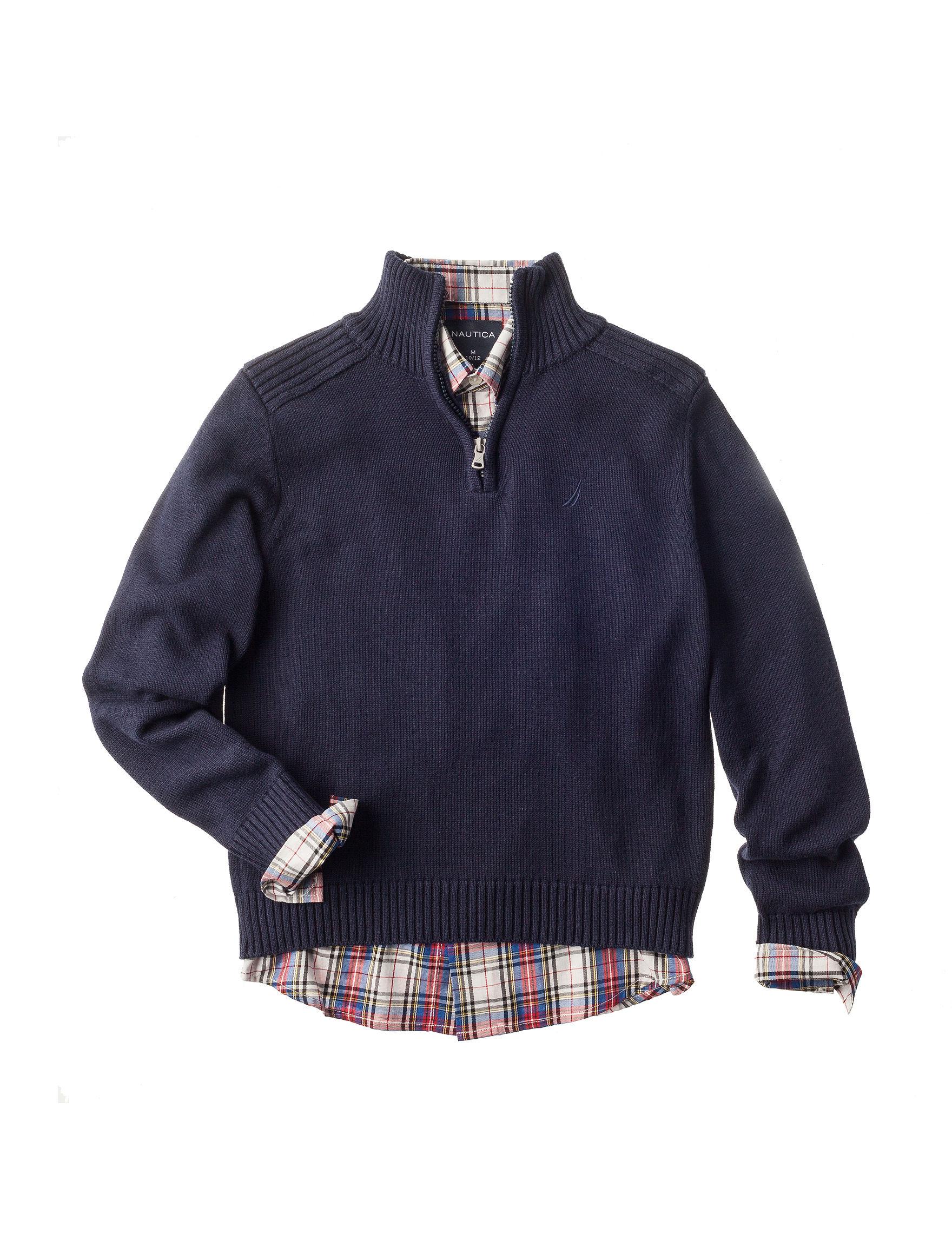 Nautica Navy Sweaters