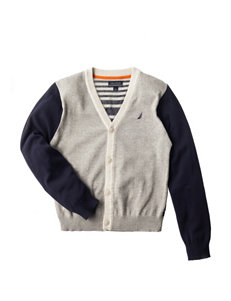 Nautica Striped Print Sweater - Boys 8-20