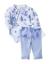 Laura Ashley 3-pc. Shrug & Leggings Set - Baby 3-9 Mos.