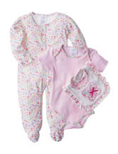 Laura Ashley 3-pc. Butterfly Sleep & Play Set - Baby 3-9 Mos.