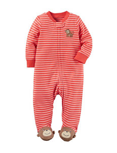 Carters® Monkey Striped Sleep & Play - Baby 0-9 Mos.